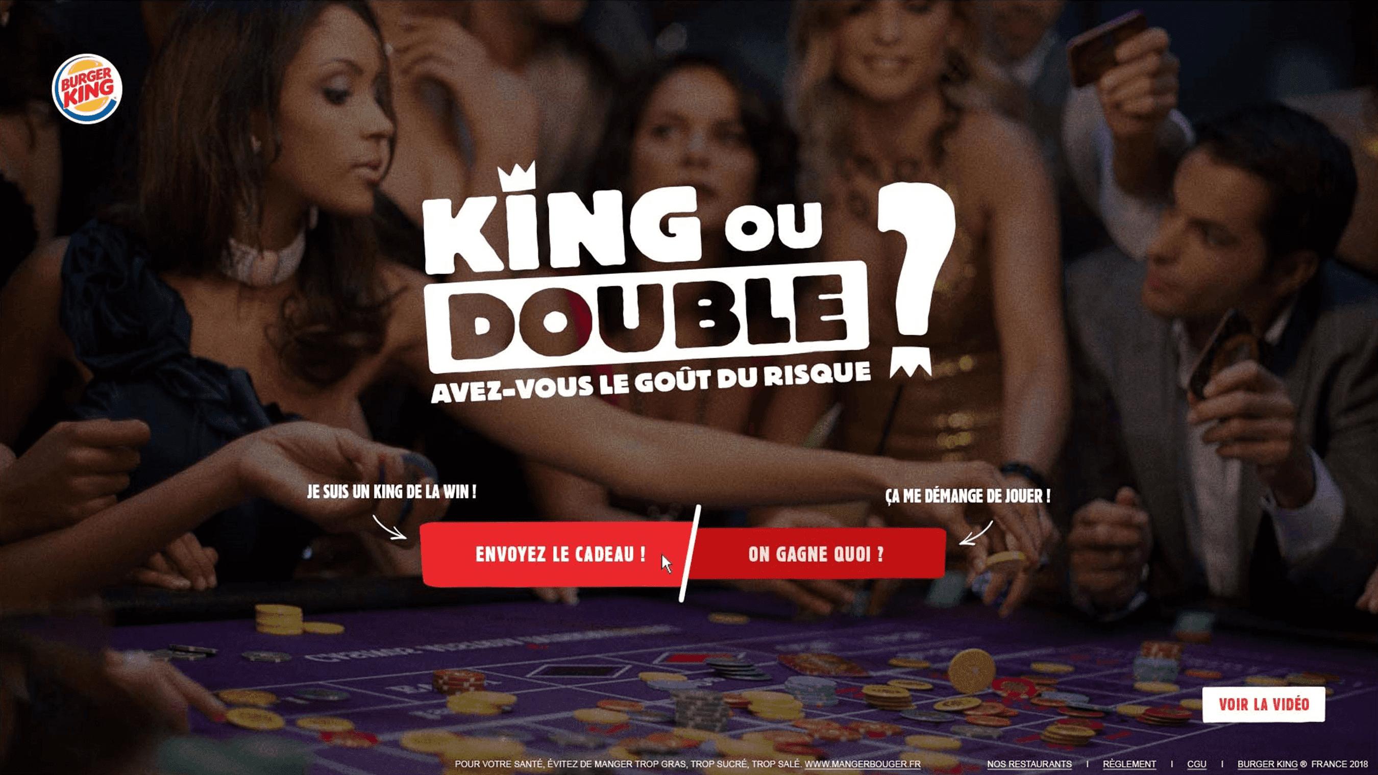 Burger King – King ou double accueil