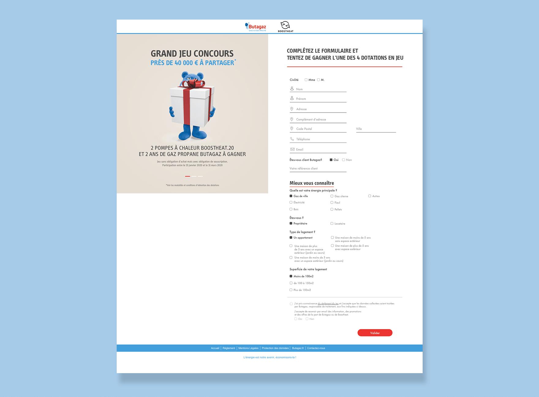 Butagaz formulaire