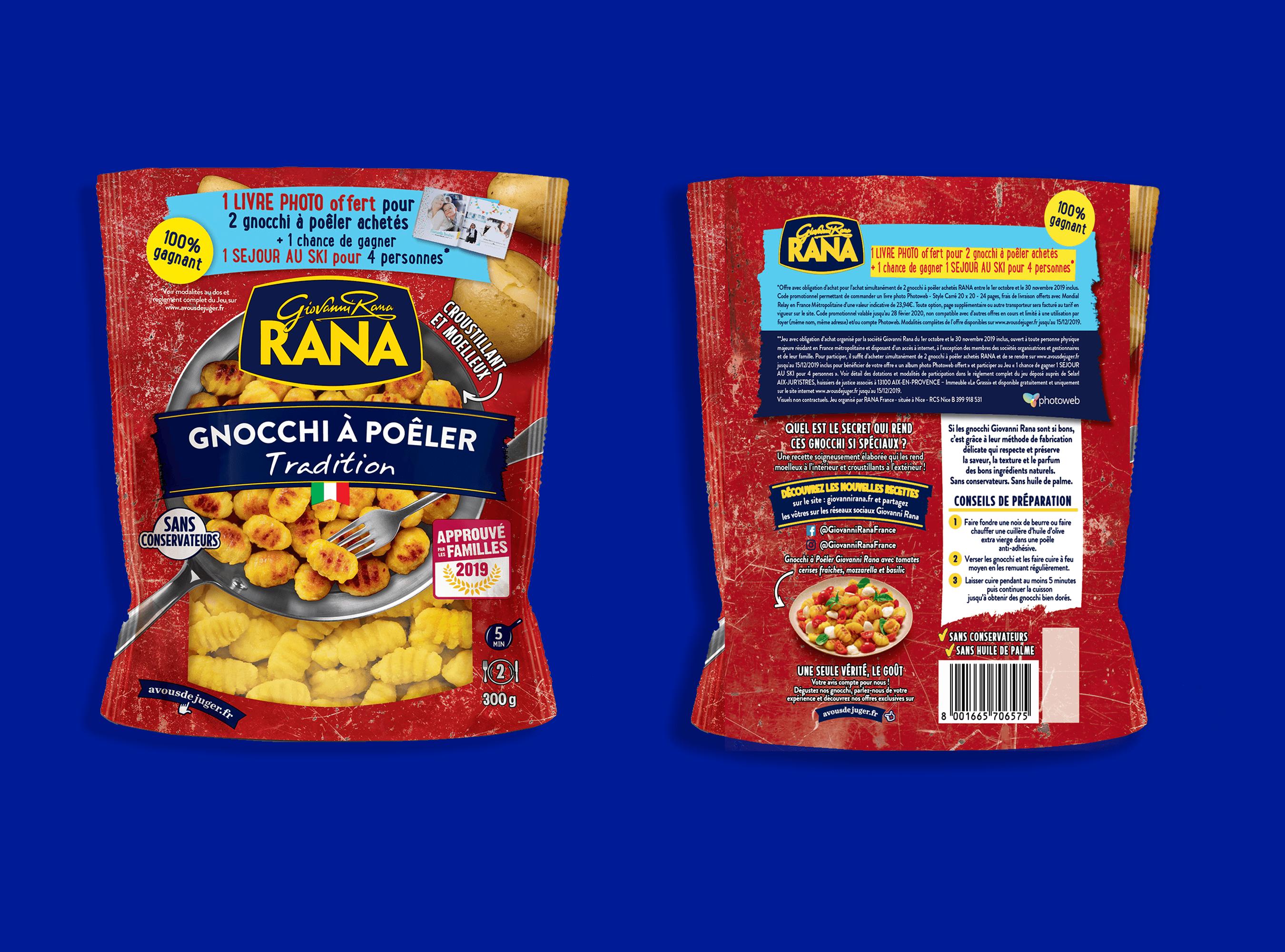 Giovanni Rana packaging